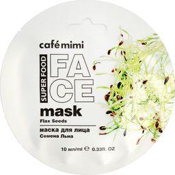 Cafe Mimi Cafe Mimi Super Food Maseczka do twarzy Nasiona Lnu & Mleko Migdałowe 10ml