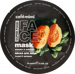 Cafe Mimi Cafe Mimi Super Food Maseczka do twarzy Dynia & Karczoch 10ml