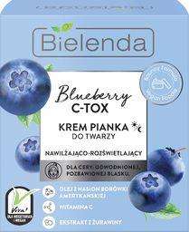Bielenda Bielenda Blueberry C-TOX Krem-pianka do twarzy nawilżająco-rozświetlający na dzień i noc 40g