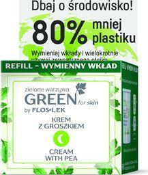 FLOSLEK Floslek Green for Skin Krem z groszkiem na noc - odżywczy REFILL - zapas 50ml