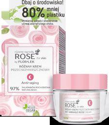 FLOSLEK Floslek Rose for Skin Różany Krem przeciwzmarszczkowy na noc ECO zestaw 50ml