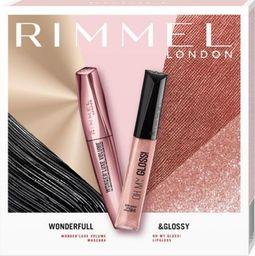 Rimmel  Rimmel Zestaw prezentowy Wonderfull & Glossy (mascara Wonder'Luxe Volume 11ml+błyszczyk 6.5ml)