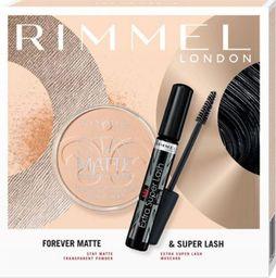 Rimmel  Rimmel Zestaw prezentowy Forever Matte & Super Lash (mascara Extra Super Lash 12ml+puder Stay Matte 14g)