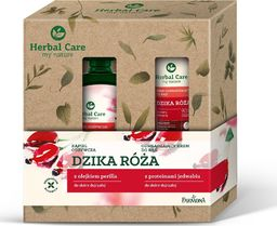 Farmona Farmona Zestaw prezentowy Herbal Care Dzika Róża (Kąpiel odżywcza 500ml+krem do rąk 100ml)