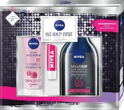 Nivea Nivea Zestaw prezentowy Face Beauty Expert (płyn micelarny 400ml+peeling 75ml+pomadka 4.8g)