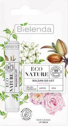 Bielenda Bielenda Eco Nature Balsam do ust nawilżający z mleczkiem migdałowym - Jaśmin i Róża 10g