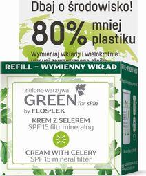 FLOSLEK Floslek Green for Skin Krem z selerem na dzień SPF15 - nawilżający REFILL - zapas 50ml