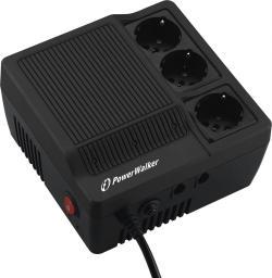 PowerWalker Stabilizator napięcia AVR LED 220/230/240V 600VA 3 x Schuko