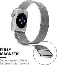 Crong Crong Milano Steel - Pasek ze stali nierdzewnej Apple Watch 38/40 mm (czarny) uniwersalny