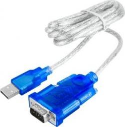 Adapter USB Cabletech USB-RS232 Niebiesko-przezroczysty (KPO3431-1.5)