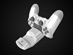 Lioncast Stacja dokująca na 2 gamepady LC20 PS4 biały (15075)