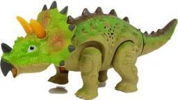 Import leantoys Dinozaur na Baterie Triceratops Zielony