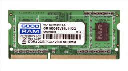 Pamięć do laptopa GoodRam DDR3 SODIMM 2GB 1600MHz CL11 (GR1600S3V64L11/2G)