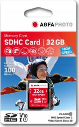 Karta AgfaPhoto Agfa SD SDHC 32 GB Class 10 UHS-I/U1 V10 (SB6035)