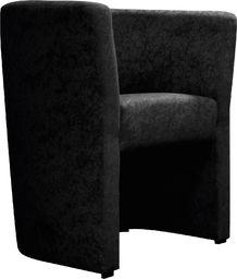 Galeriatrend Fotel klubowy mikrowelur 16 czarny Klub Pub Salon