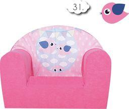 Galeriatrend Fotelik Dziecięcy Mini Bird Pink