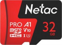 Karta Netac P500 Extreme Pro MicroSDHC 32 GB Class 10 A1 V10 (NT02P500PRO-032G-R)