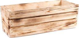 Tin Tours Skrzynka drewniana na kwiaty i zioła OPALANA 40x18x15h cm