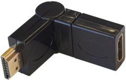 Adapter AV ART HDMI, obrotowy, czarny