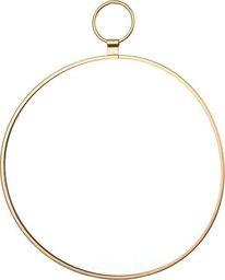 Pigmejka Lustro okrągłe Dekoracyjne złote 25x20x0,5 uniwersalny