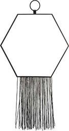 Pigmejka Lustro Dekoracyjne czarne z sznurkami 43x25x0,5 cm uniwersalny