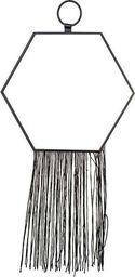 Pigmejka Lustro Dekoracyjne czarne z sznurkami 38x20x0,5 cm uniwersalny (96977-uniw) - 96977-uniw
