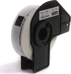 JetWorld Etykiety DK-11204 do Brother QL500 QL550 QL560 QL570 QL650 QL700 QL800 QL820 QL1050 QL1060 QL1100 17mm x 54mm x 400 szt Black on White JetWorld uniwersalny