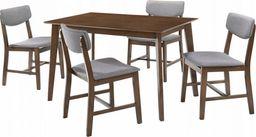 Trends Zestaw 1x stół + 4szt krzeseł Carla kolor szary