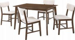 Trends Zestaw 1x stół + 4szt krzeseł Carla kolor beżowy