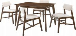 Trends Meble drewniane Stół + 4szt krzeseł drewnianych Mesa kolor beżowy