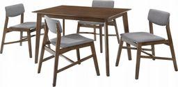 Trends Meble drewniane Stół + 4szt krzeseł drewnianych Mesa kolor szary