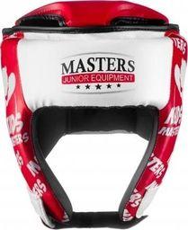 Masters Fight Equipment Kask treningowy MJE - KTOP-PU-KM czerwony uniwersalny
