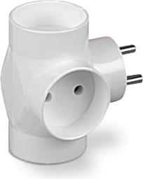 Plastrol rozdzielacz R-30, 3x wtyk okrągły, biały