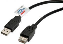 Kabel USB Roline A-A, męsko-żeński, 3m, czarny (11.02.8960)