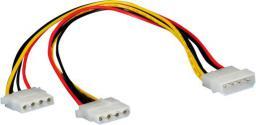 """Kabel zasilający Roline adapter """"Y"""" 5.25""""-2x 5.25"""", 30cm (11.03.1005)"""