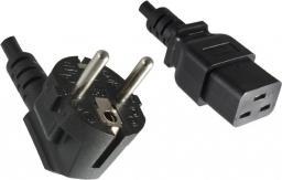 Kabel zasilający Roline Schuko IEC320-C19 16A/250V, 2m, czarny (19.08.1552)
