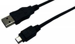 Kabel USB LogiLink mini USB 2.0, 1.8m, czarny