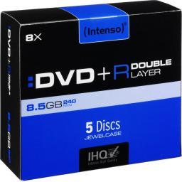 Intenso DVD+DL 8x JC 8,5GB 5 sztuk (4311245)