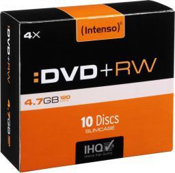 Intenso DVD+RW 4x SC 4,7GB Intenso 10 sztuk (4211632)