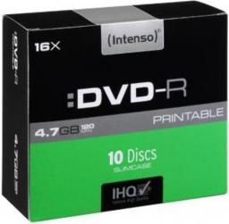 Intenso DVD-R 16x SC 4,7GB Intenso Pr. 10 sztuk (4801652)