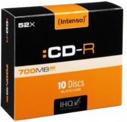 Intenso CD-R, 52x, SC 700MB, Pr, 10 sztuk (1801622)
