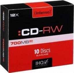 Intenso CD-RW 12x 700MB, 10 sztuk (2801622)