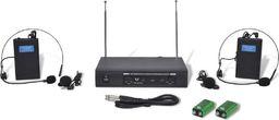 Wzmacniacz słuchawkowy vidaXL Odbiornik z dwoma bezprzewodowymi słuchawkami z mikrofonem VHF