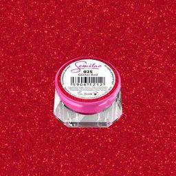 Semilac Semilac Kolorowy lakier żelowy 025 Glitter Red 5ml uniwersalny