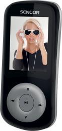 Odtwarzacz MP4 Sencor SFP 5870BS,  MP3, MP4, 8GB, FM, Czarno-Szary