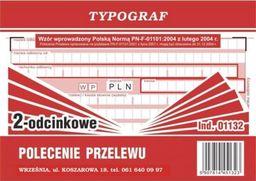 Typograf Druk polecenie przelewu wpłata gotówkowa TYPOGRAF A6 2 odc.