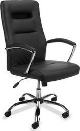ASL Biurowy fotel obrotowy ecoskóra. Model SL3 czarny