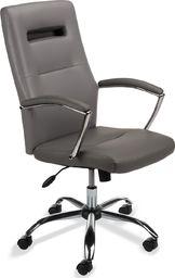 ASL Biurowy fotel obrotowy ecoskóra. Model SL3 szary