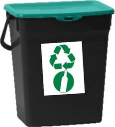 Kosz na śmieci Plast Team do segregacji zielony (PT50600431)