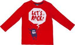 Pepco PEPCO T-shirt chłopięcy chmurka monsterek 134 Czerwony